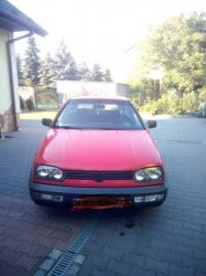 VW Golf III 1.9tdi stan db+ - Używany 1900cm3. Czerwony Małopolskie/Kłaj
